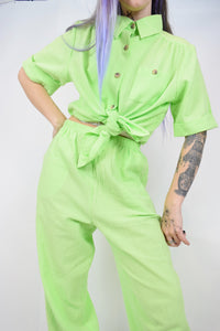 90s LIME GREEN SET - MEDIUM