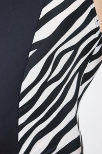 90s ZEBRA BATHINGSUIT - MEDIUM