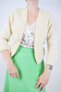 50s UPCYCLED CARDIGAN - S/M