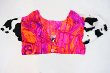 ~OWLEPHANT ORIGINAL~ HANDMADE EMBROIDERED CROP - M/L