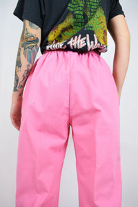 70s BARBIE PINK TROUSERS - 27""