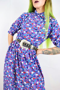 60s BABYDOLL FLORAL MAXI - SMALL