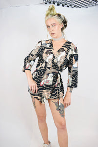 BESPOKE CHINESE WRAP BLOUSE - MEDIUM