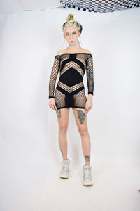 Y2K FISHNET CYBER MINI - XS-M