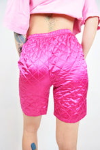 80s PINK QUILTED BIKER SHORTS - 26""