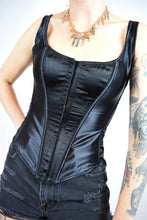 VAMP GOTH CORSET TOP - SMALL
