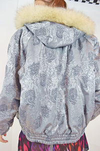 80s HOLOGRAPHIC CLOWN SKII JACKET - SMALL