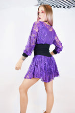 80s PURPLE WITCHY LACE MINI - SMALL