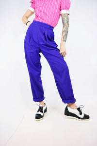 80s PURPLE TROUSERS - 25-28""