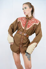 50s EMBROIDERED WESTERN BUTTON UP - L/XL