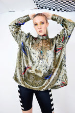 SILK PRIMARY BATWING BLOUSE - M/L