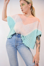 PASTEL 80S SHREDDED SWEATER - LARGE