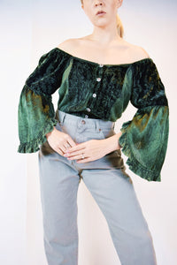 90s FOREST FAIRY BLOUSE - MEDIUM