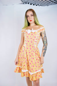 STRAWBERRY SHORTCAKE MIDI DRESS - XS/S