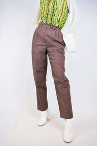 60s BROWN TROUSERS - 26""