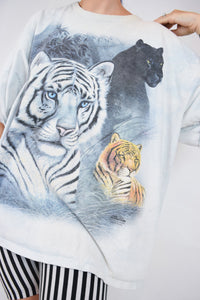 90s THRASHED BIG CAT TEE - XL
