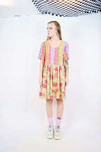 90s COLORFUL GAUZE MINI - S/M