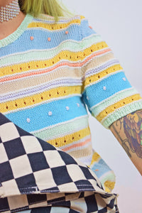 PASTEL KNIT SWEATER - SMALL