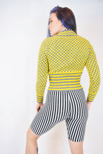50s CHECKERBOARD CLOWN SWEATER - XS/S