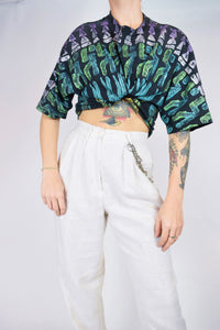 90s ABSTRACT CROP - XL