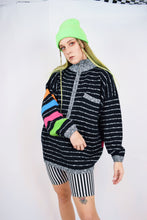 80s RAINBOW KNIT JUMPER - M/L