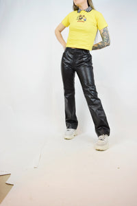 90s GAP LEATHER FLARES - 28""