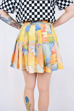 80s ABSTRACT TENNIS SKIRT - 31""