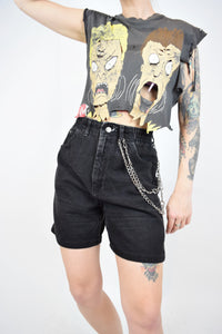 90s BLACK LEE MOM SHORTS - 27""