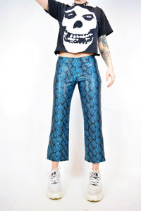Y2k SPACE AGE SNAKE FLARES - SMALL