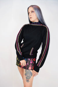 60s RAINBOW STRIPE SWEATER - MEDIUM
