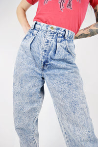 80s ACID WASH TROUSERS - 27""