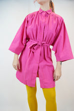 70s UPCYCLED BARBIE PINK BATWING BLOUSE