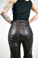 80s LEATHER PANTS - 30/31""