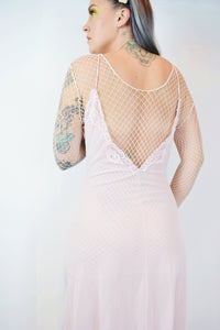 70s PASTEL PINK SLIP MAXI - SMALL