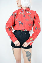 80s BUFFALO HUNT BLOUSE - M/L