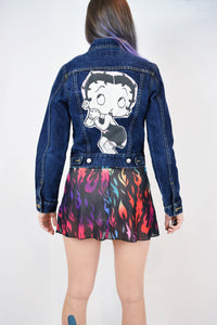 UPCYCLED BETTY BOOP JACKET - XS/SMALL
