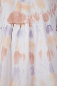 90s TIE DYE JUMPER DRESS - MEDIUM