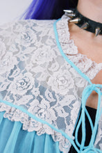 60s BABY BLUE LACE TEDDY - O/S