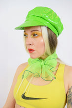 60s LIME GREEN SHEER SCARF