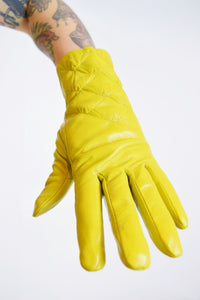 70s YELLOW LINED GLOVES