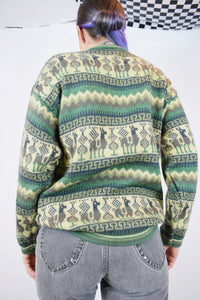 70s ALPACA ZIP UP - S/M