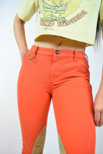 Y2K LOW RISE ORANGE EQUESTRIAN TROUSERS - SMALL