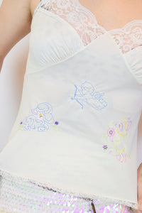 EMBROIDERED SLIP TOP - SMALL