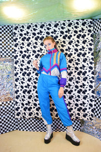 80s POWER CLASH JUMPSUIT - XS/SMALL