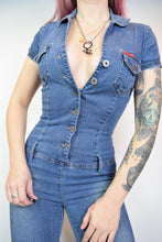 Y2K PARIS DENIM JUMPSUIT - XS/SMALL