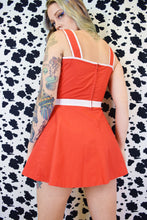 60s BRIGHT RED MICRO MINI - XS