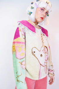 *OWLEPHANT ORIGINAL* UNICORN BLANKET SWEATER - L/XL