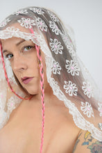 WHITE IVORY LACE SCARF