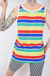 70s RAINBOW PRIMARY TANK TOP - MEDIUM