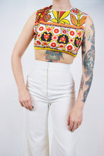 60s PSYCHEDELIC CROP TOP - SMALL